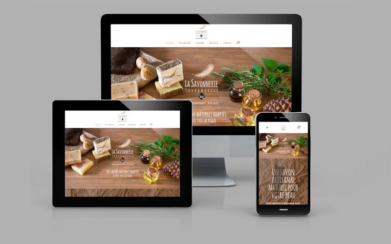 Site internet e-commerce «Savonnerie Tourangelle»