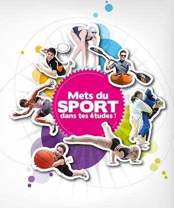 Création graphique d'une plaquette de promotion du sport