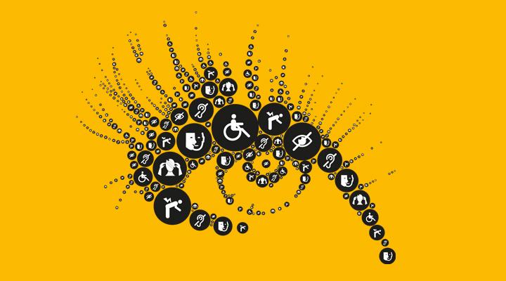 Illustration handicap pour un dépliant de communication interne