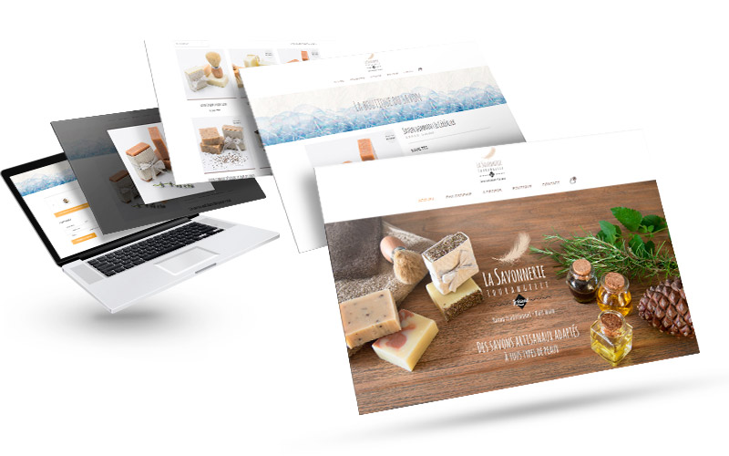 Création de site e-commerce vente de savons artisanaux